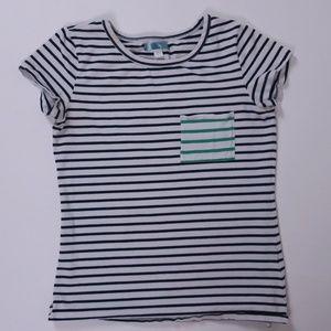 Pim + Larkin Striped Pocket T-Shirt - Size M